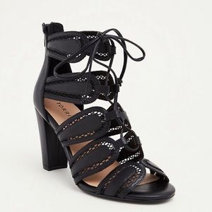 Torrid Scalloped Lace-up Heels